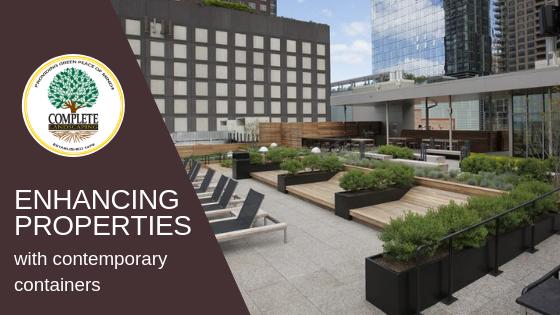 Contemporary Planters Enhance Commercial Properties