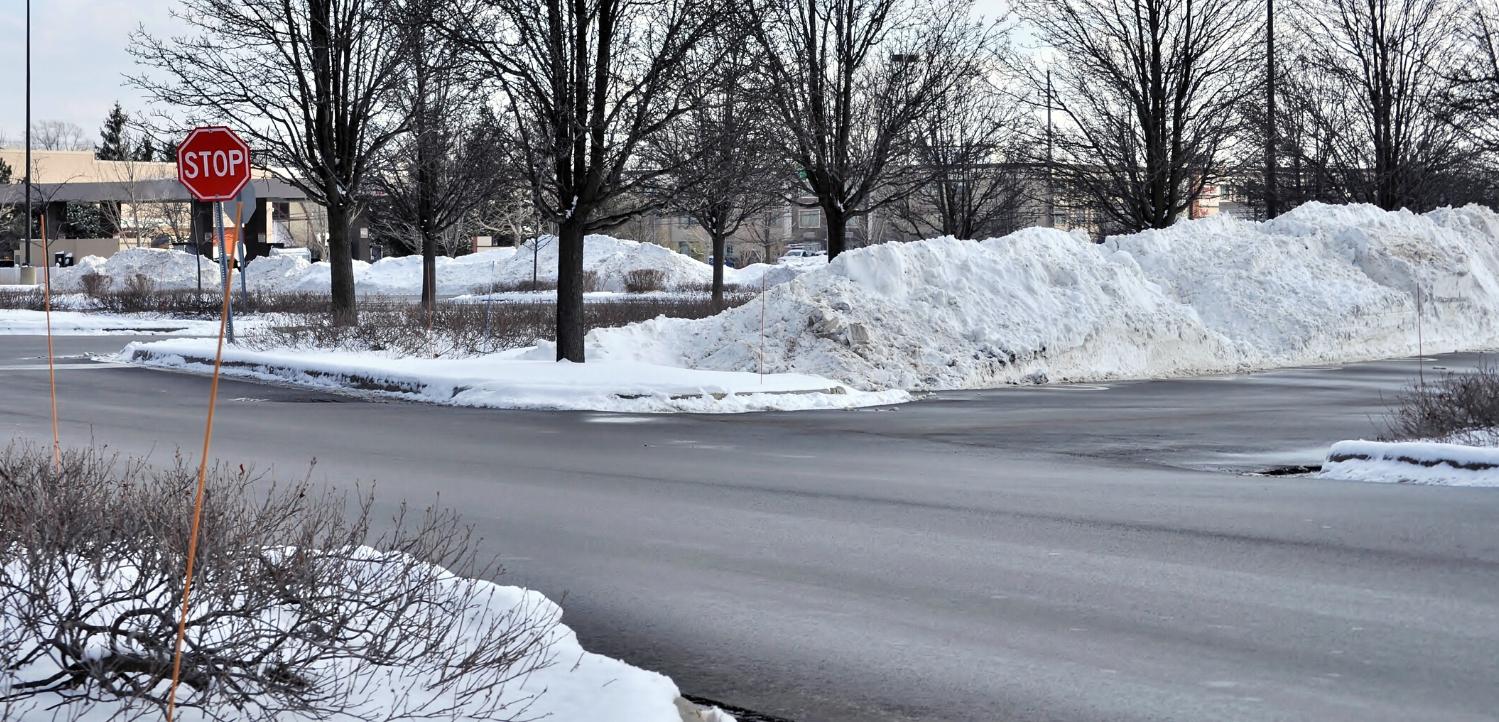 plowed parking lot
