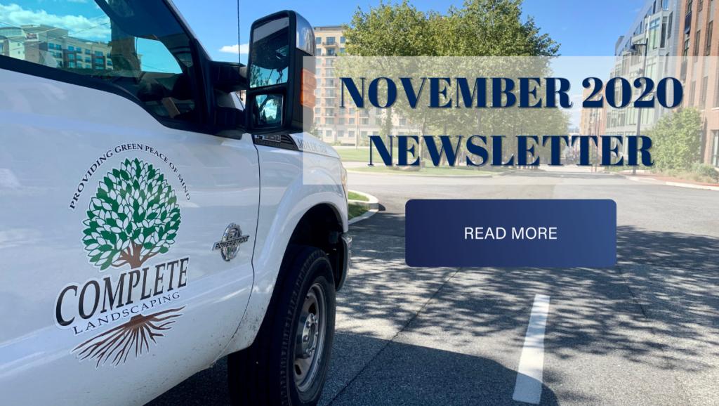 complete landscaping service november newsletter