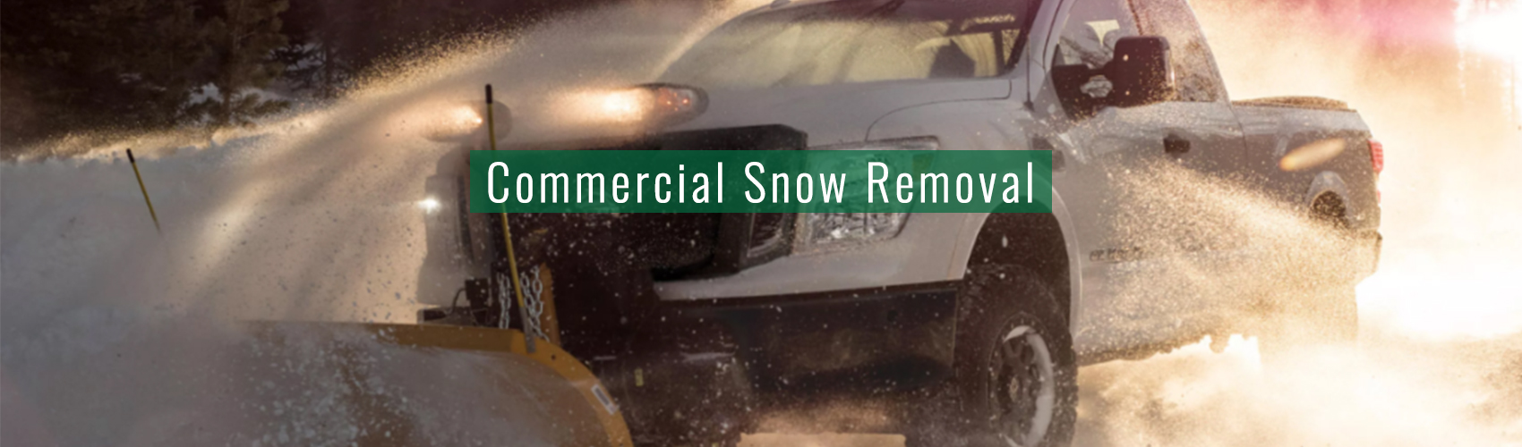 Commercial Snow Removal at Complete Landscaping Service