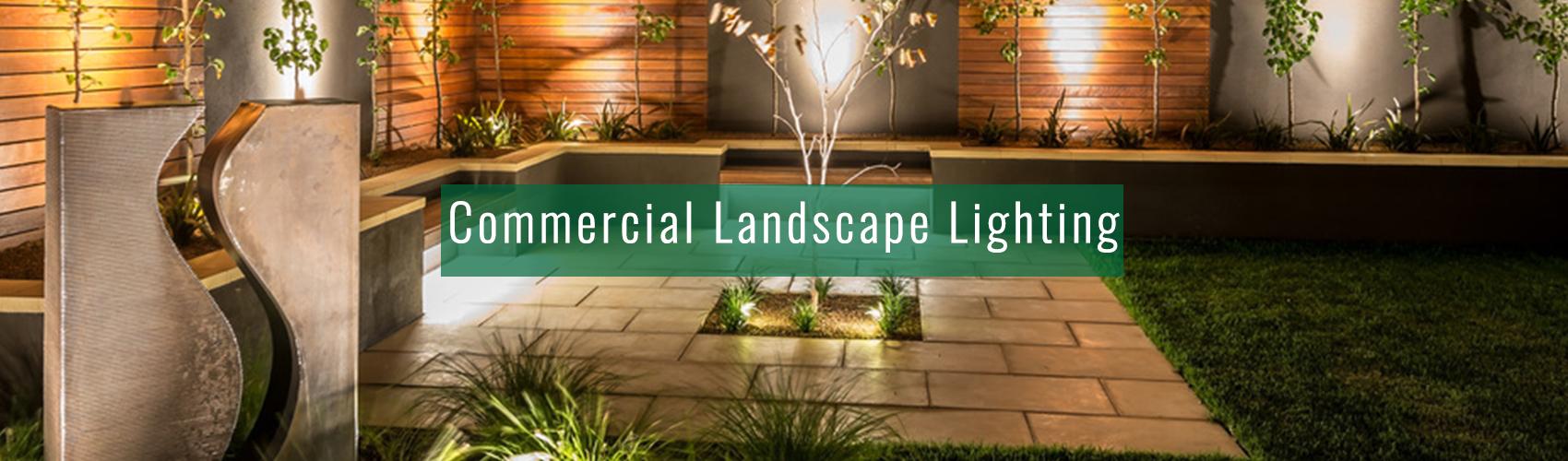 Commercial Landscape Lighting at Complete Landscaping Service