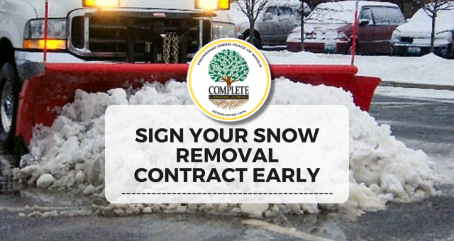 Should Commercial Properties Sign Their Snow Contract Early?